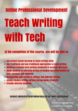 Online PD- Teach Writing with Tech
