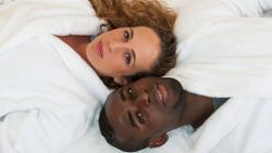Pregnant From Period Sex - Couple in white robes
