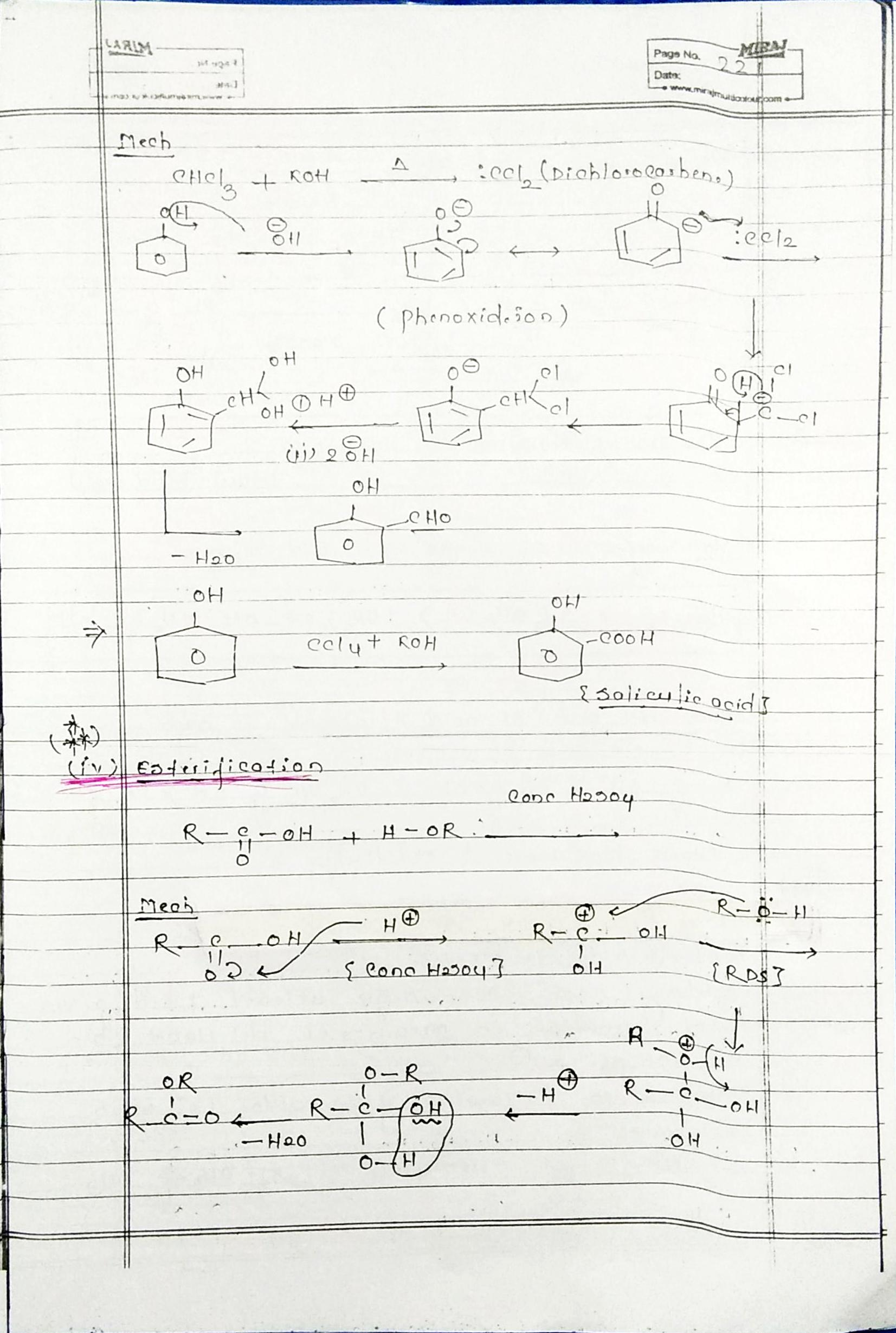 Organic Chemistry Special Reaction Part 1 Simple Notes For Neet And Jee