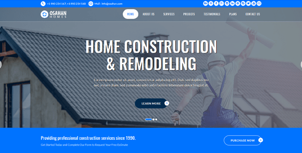 Osahan Home Construction free Bootstrap Responsive Website Template