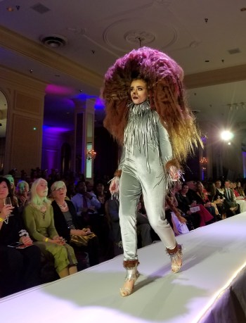 A lion-inspired costume designed by Brian Atkins.