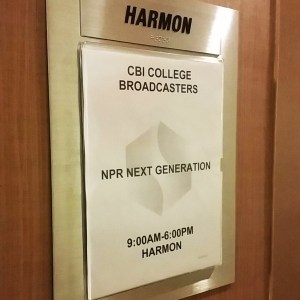 Harmon was the room inside the hotel all of the Next Generation Radio participants and mentors worked in. (Next Gen Radio/Angela Nguyen)