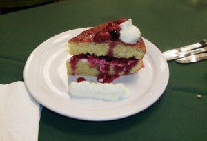 Roasted Tri-berry vanilla cake