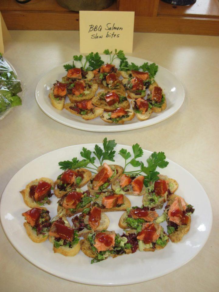 Ask Chef Christy BBQ Salmon Slaw Sliders