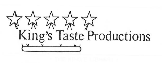 King's Taste Productions header