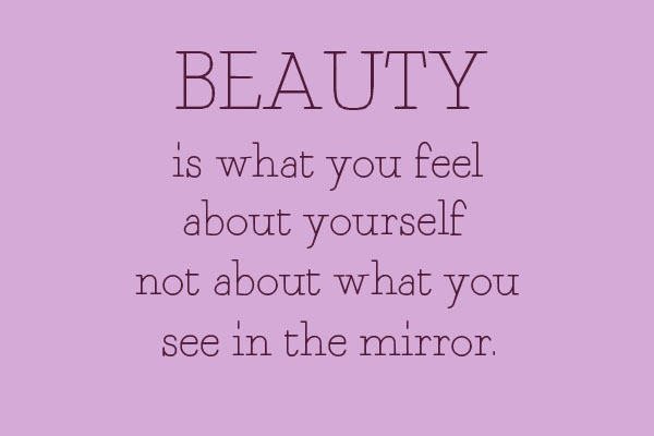 Beauty is what you feel