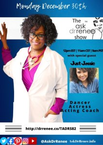 Ask Dr. Renee,Ask Dr. Renee Show,Talk Show Host,Oprah Winfrey,talk show,Jossie Harris,in living color,Fly girls,Dancer,Jossie Harris Thacker,music,dancer,hiphop,Jennifer Lopez,acting coaching class,talk show hosts laughing, Jossie Harris, Dancer, Actress, Acting Coach, Fly Girl, In Living Color, The Ask Dr. Renee Show, Dr. Renee, Dr. Renee Matthews, Ask Dr. Renee