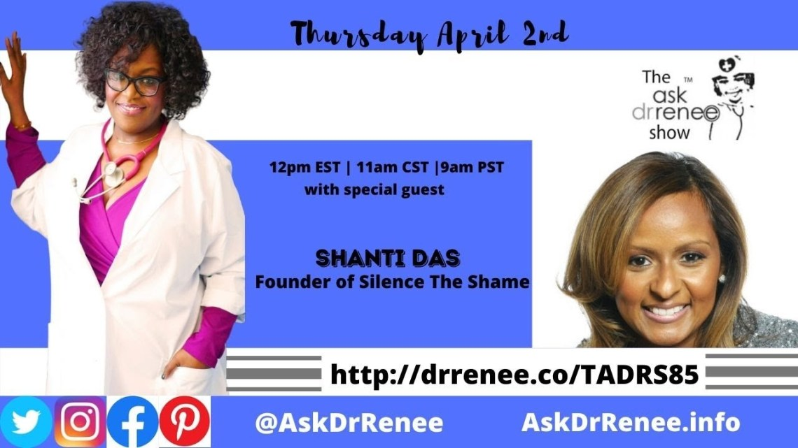 Shoestring, HipHopProfessiona,l SilenceTheShame, MentalHealth, YeahWellness, HipHop, LaFace, Marketing, Motown, ContentCreator, CaribbeanDoctor, BlackDoctor, Ask Dr. Renee, Ask Dr. Renee Show, Talk Show Host, Oprah Winfrey, depression, emotional intelligence, entertainment, health, hip hop, how to use periscope, interview, live stream, live streaming, livestream, mental health, outkast, periscope, philanthropy, r&b, radio, rap, shanti das, silence the shame, silencetheshame, video