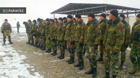 Военнослужащие армии Кыргызстана