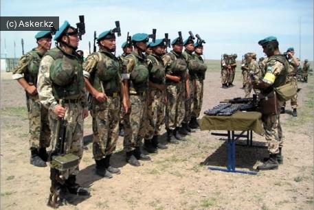 Учения казахстанской армии