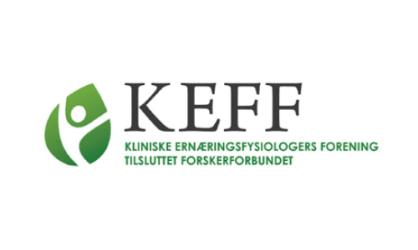 KEFF Kliniske Ernæringsfysiologers Forening tilsluttet Forskerforbundet logo