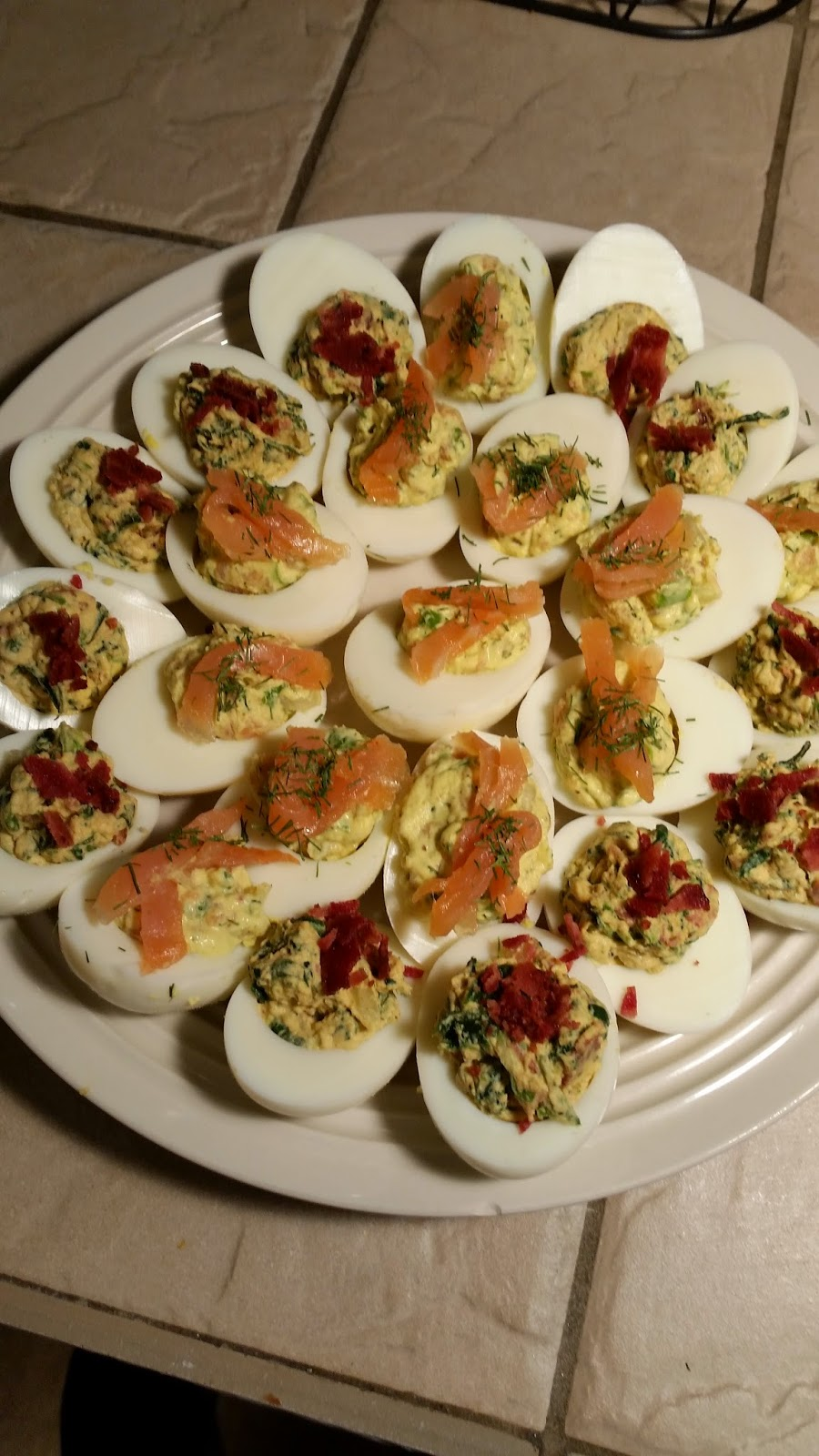 Salmon Deviled Eggs and Spinach Bacon Deviled Egg Recipes