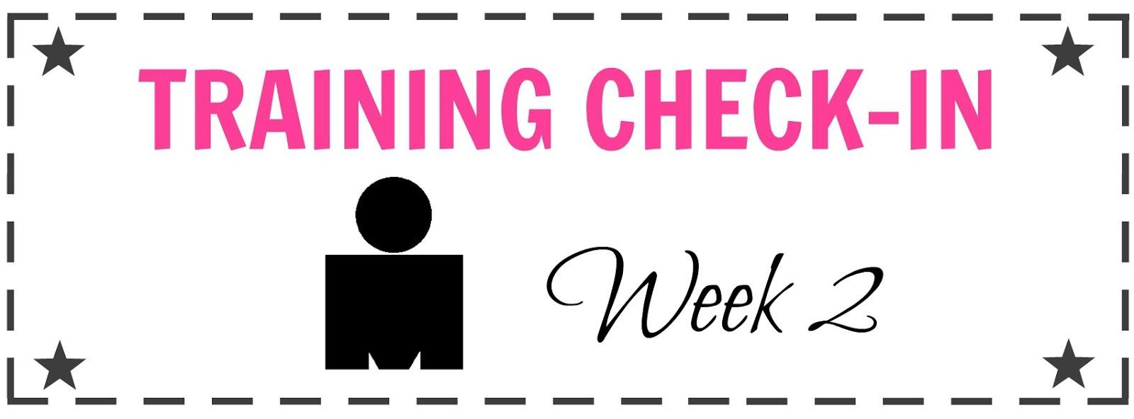 Training Check-in: Ironman Week 2