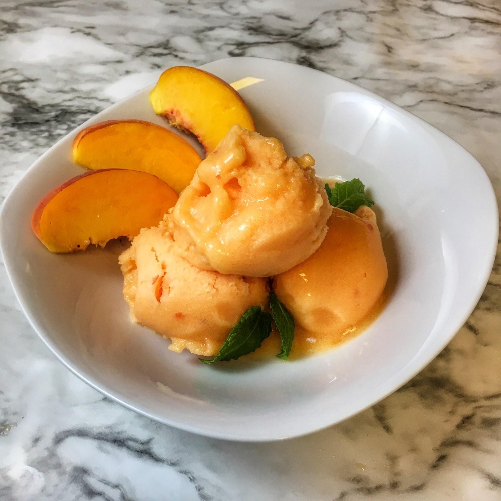Homemade Peach Sorbet