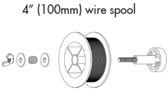 4 Inch (100mm) wire spool