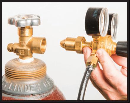 Attaching regulator hose