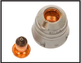 Damaged electrode and tip