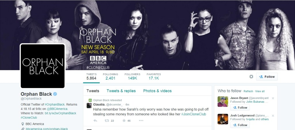 Orphan Black official Twitter
