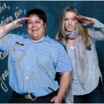 Annie with Zoie Palmer at ECCC 2014