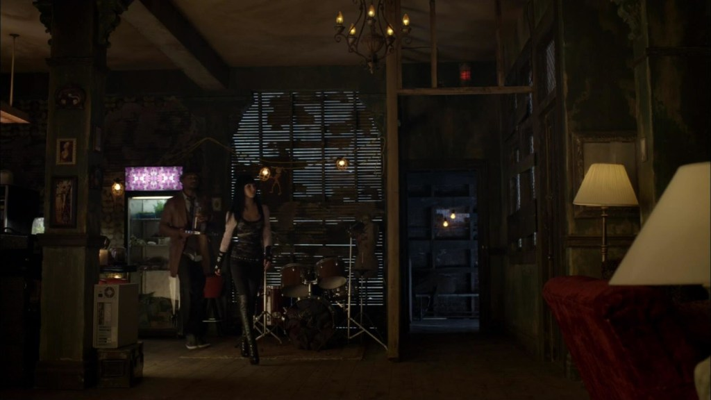 Hale and Kenzi walking through Clubhouse in I Fought the Fae (and the Fae Won)