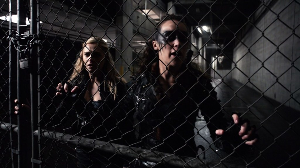 Clarke and Lexa in The 100 Perverse Instantiation Part 2