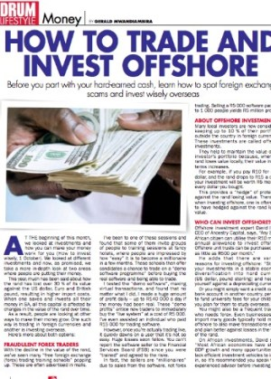 Forex article