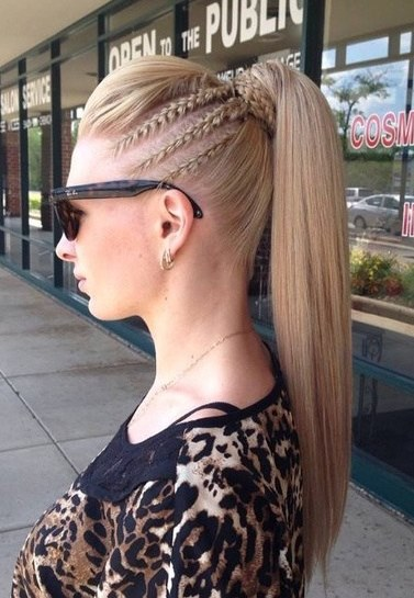 15 Cute French Braid Ponytails