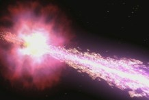 The jet from a Gamma-ray burst emerging at nearly lightspeed. Credit: Credit: NASA/Swift/Cruz deWilde