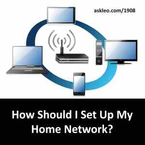 How Should I Set Up My Home Network?  Ask Leo!
