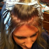 Backward Chevron on Blonde Hair
