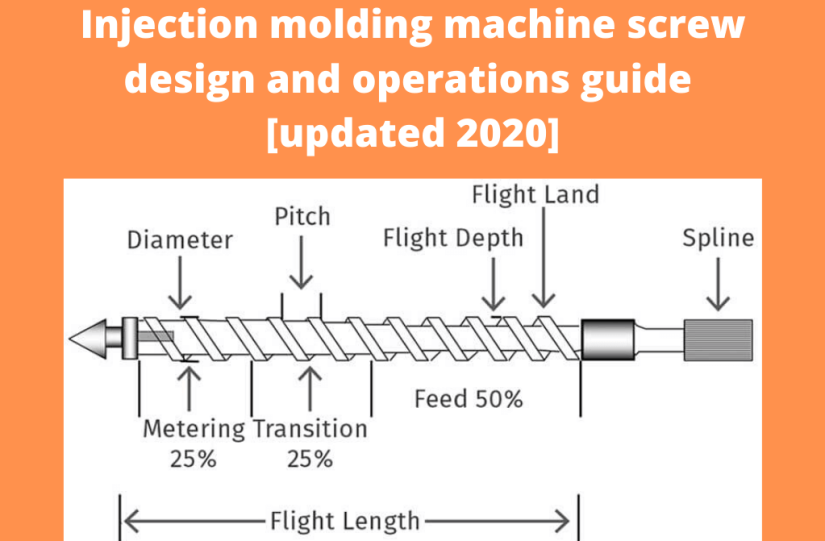 Injection molding machine screw design and operations