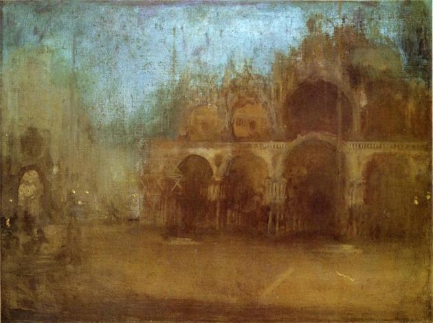 """Джеймс Уистлер """"Ноктюрн в синем и золотом. Собор Святого Марка в Венеции"""""""
