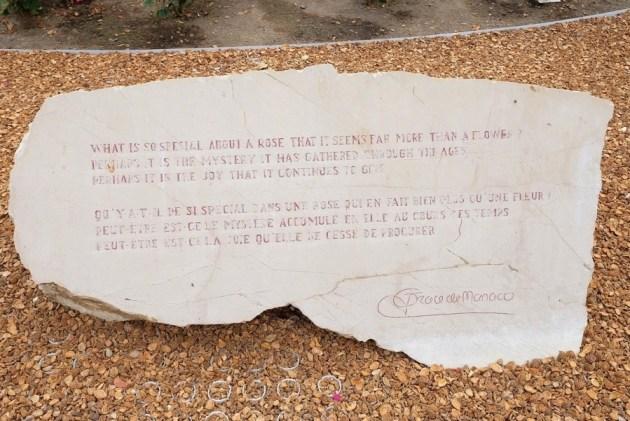 Мемориальный камень Принцессы Грейс Келли