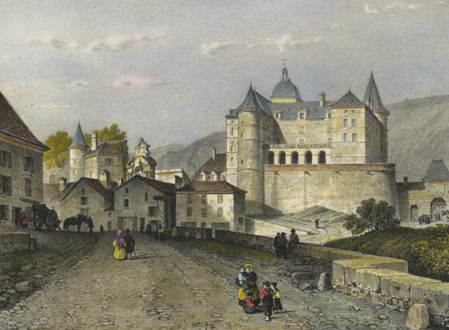 Средневековый замок Франции