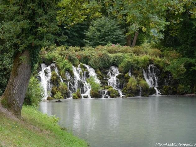 Водопад в парке Визиль Франция