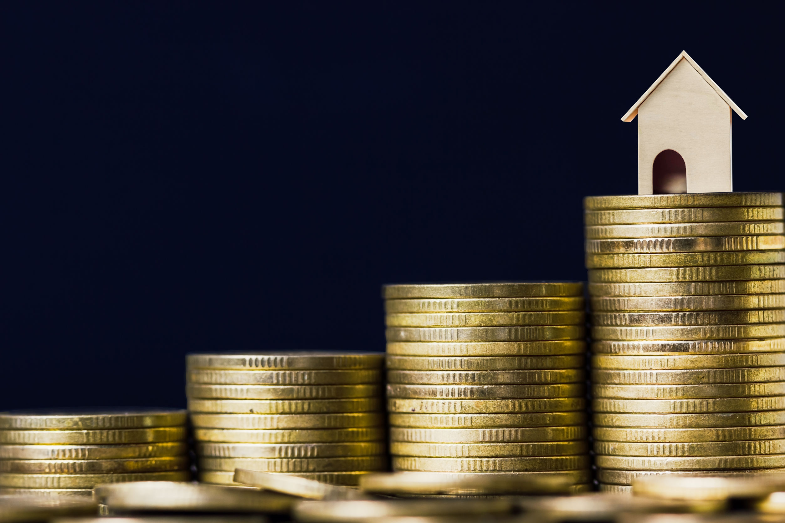 Home loan, mortgages, debt, savings money for home buying concep