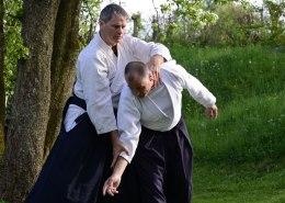 Aikido Trainingskampf im Freien