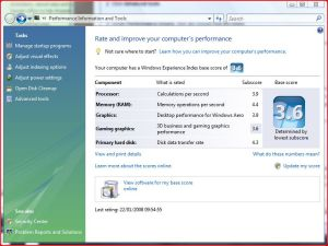 Vista Performance Wizard