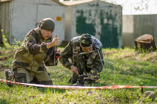 Военно – тактическая игра «Пламя Победы»