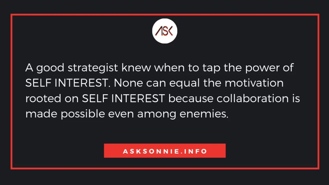 quotation about self interest