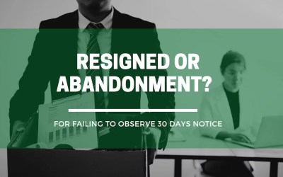 When is work considered abandoned?