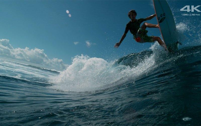 surfing sony 4K UHD UltraHD test demo video