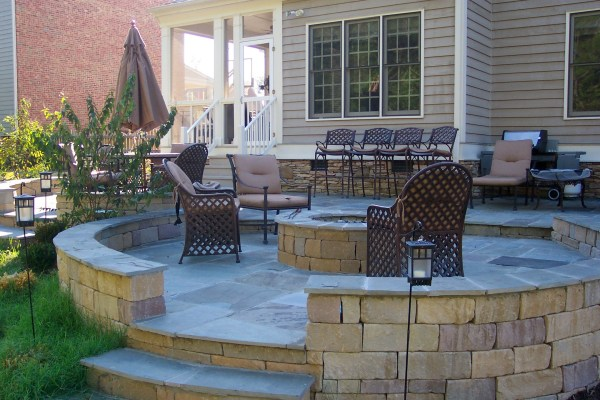 outdoor patio with fire pit designs richmond va outdoor rooms | Ask the Landscape Guy
