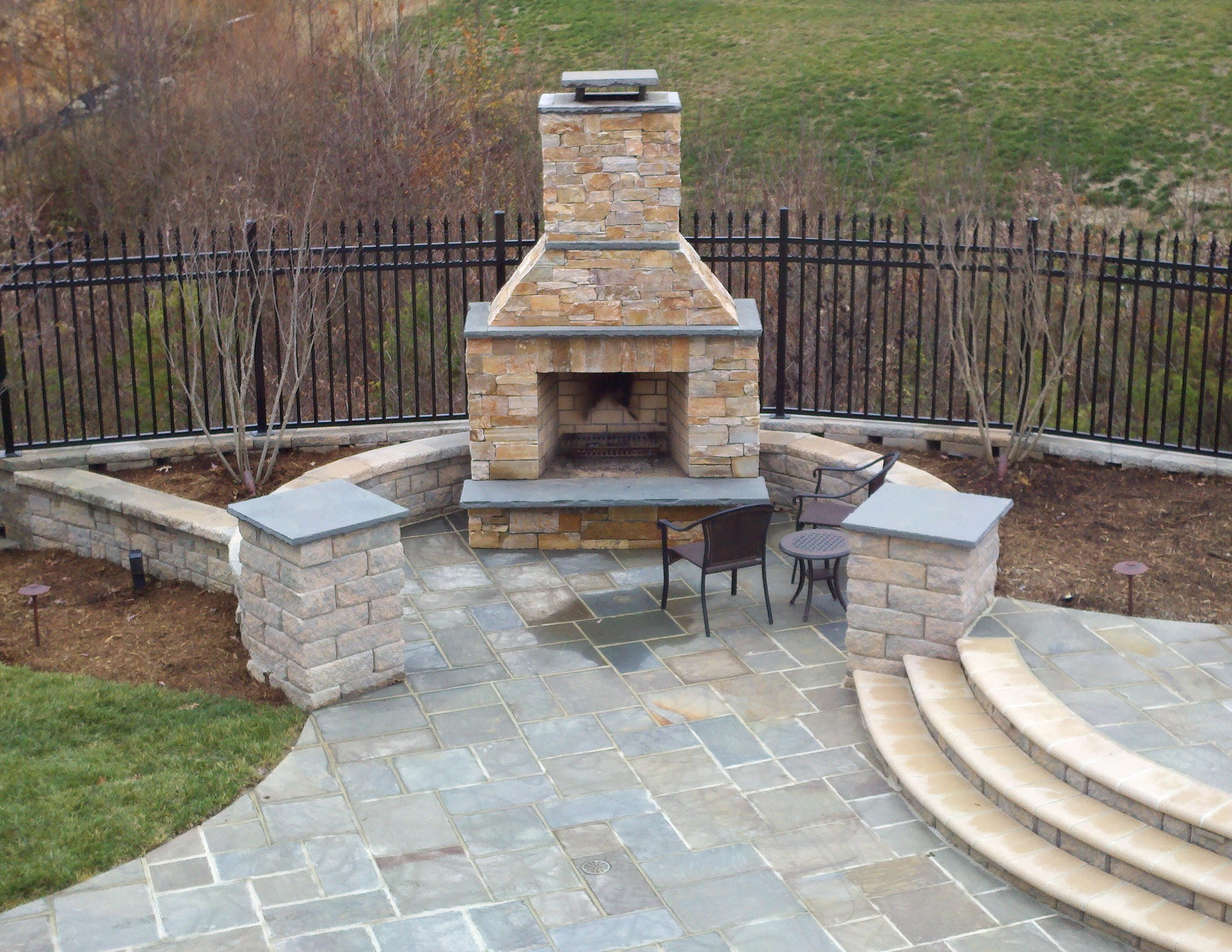 outdoor fireplace | Ask the Landscape Guy on Rock Patio Designs  id=57004