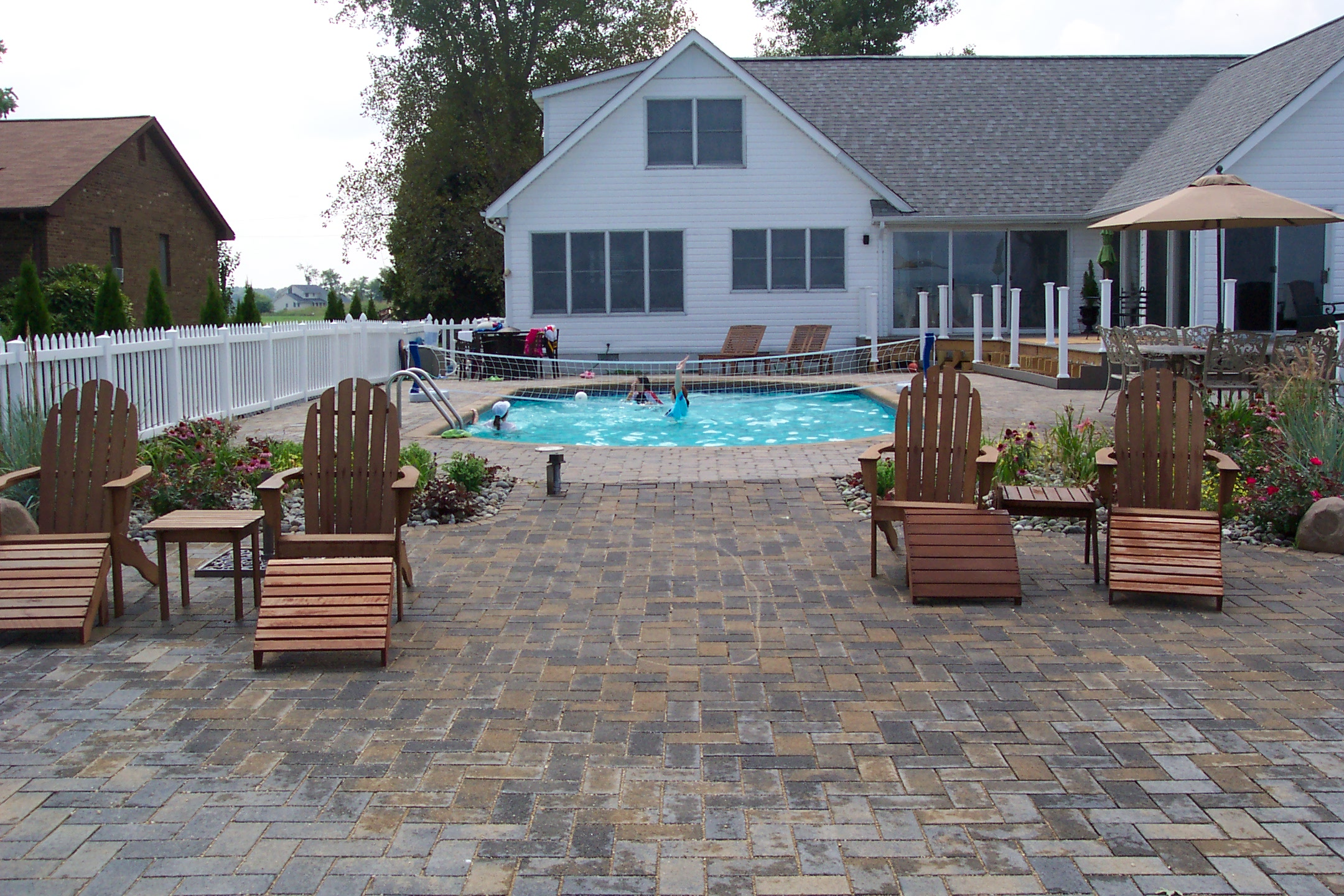 Permeable Pavers - Great, Eco-friendly Solution to Water ... on Patio Ideas Around Pool id=43530