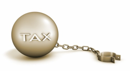 taxes ball and chain