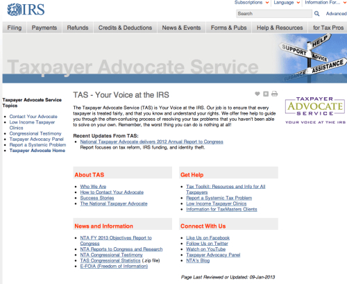 Taxpayer Advocate Service