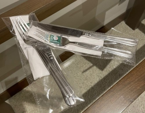 """Hotel Room Silverware - """"Because of the Sanitary Condition"""""""