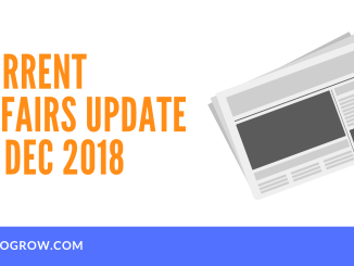 Current Affairs Update 20 Dec 2018
