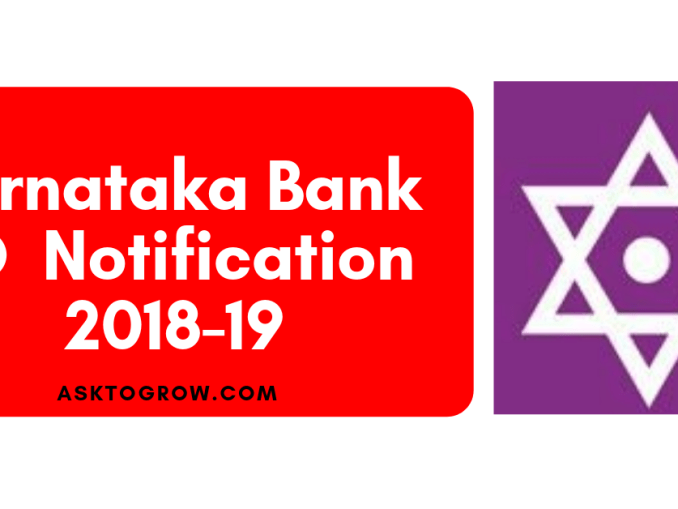 Karnataka bank po 2018-19